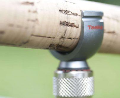 TASKA Zliatinový klip na prút s korkovou rokojetí