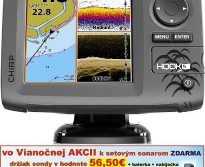 Sonar s GPS Hook-5 Chirp so sondou