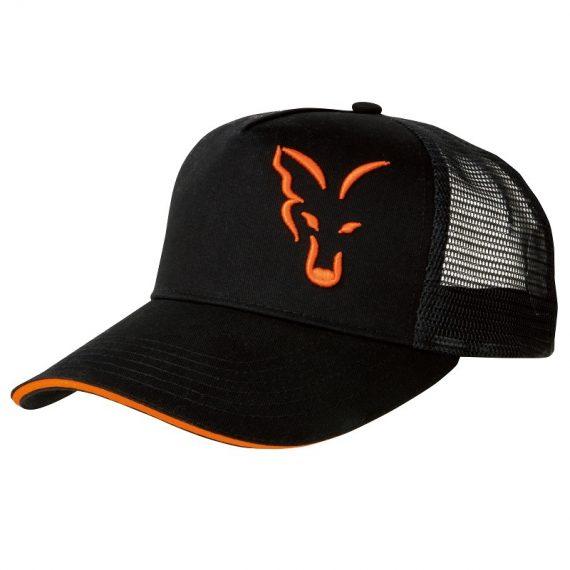 vyr 4186crp924 V 570x570 - FOX Šiltovka Black/Orange Trucker Cap