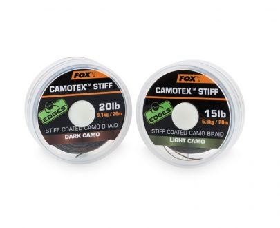 cac438 cac444 405x330 - FOX šnúrky camotex stiff 25lb 20m