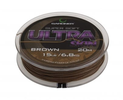 Ultra Skin Brown spool on white copy 405x330 - Gardner Šnúrka Ultra Skin 25lb