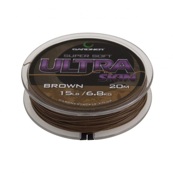 Ultra Skin Brown spool on white copy 570x570 - Gardner Šnúrka Ultra Skin 25lb
