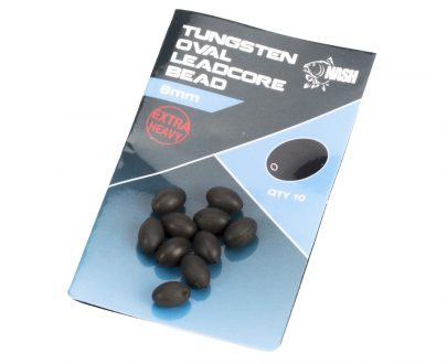 nash tazke koralky tungsten oval leadcore beads 8 mm 1 405x330 - Nash Tažké Korálky Tungsten Oval Leadcore Beads 8mm
