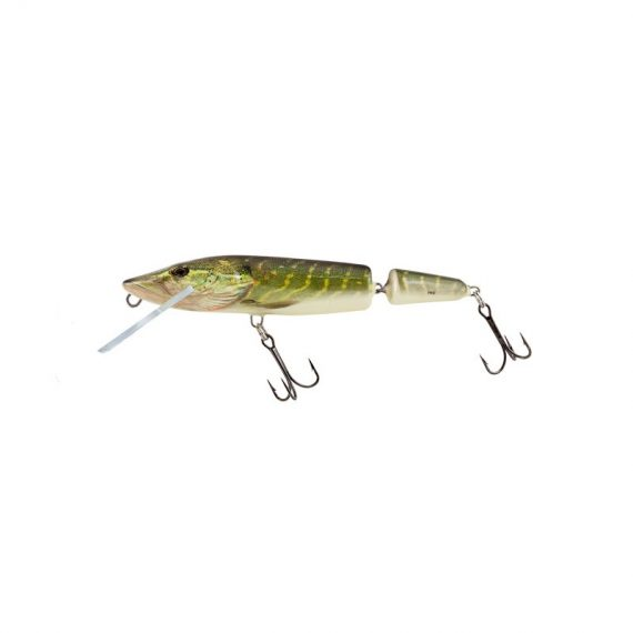 salmo wobler perch floating holographic grey shiner 1 4 570x570 - Salmo Wobler Pike Jointed Real Pike 11cm 13g plávajúci