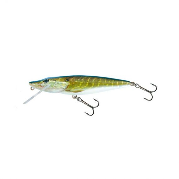 salmo wobler perch floating holographic grey shiner 1 6 570x570 - Salmo Wobler Pike Real Pike 11cm 15g plávajúci