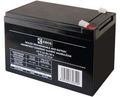 1201000850 E07 B9656 405x330 - EMOS Bezúdržbový olovený akumulátor 12 V 12 Ah