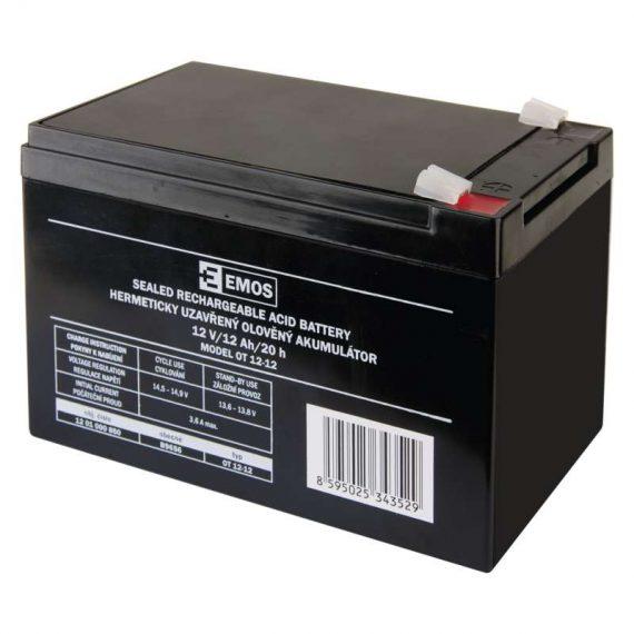 1201000850 E07 B9656 570x570 - EMOS Bezúdržbový olovený akumulátor 12 V 12 Ah