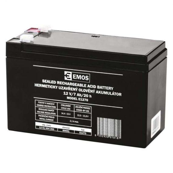 1201004300 E07 B9691 570x570 - EMOS Bezúdržbový olovený akumulátor 12 V 7 Ah