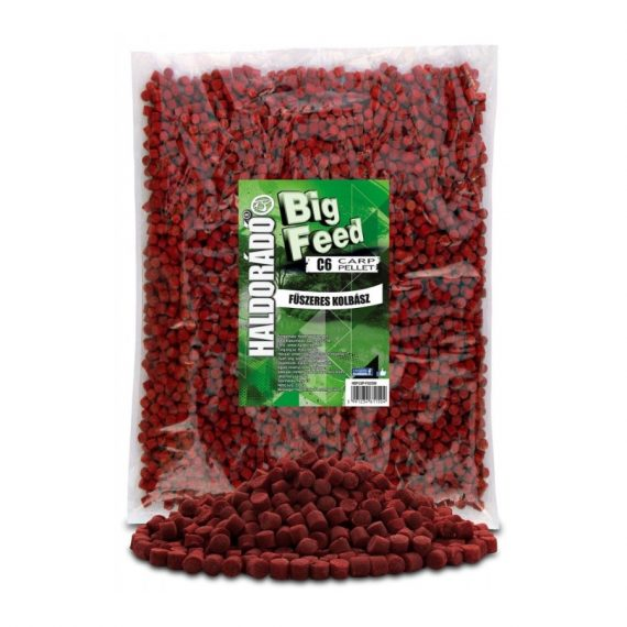 Haldorad big feed c6 pellet korenista klobasa 2500g 600x800 570x570 - Haldorádó Big Feed - C6 Pellet 2500 g - Korenistá Klobása
